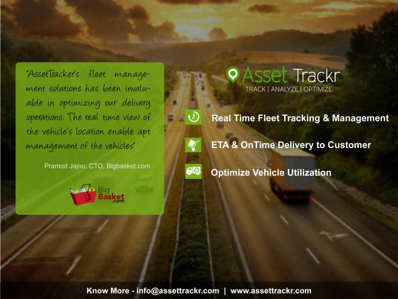 Bigbasket Vehicle Tracking System