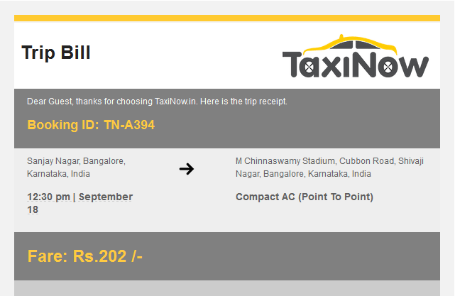 Taxi Dispatch System India